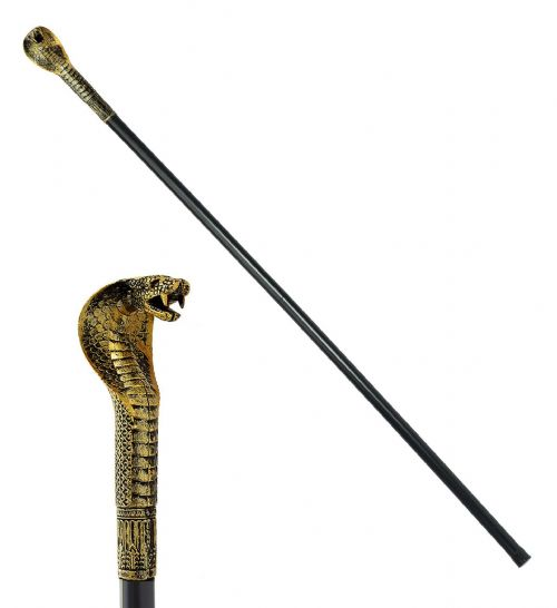 COLLAPSIBLE PHARAOH'S CANE 110cm Stick Accessory Fancy Dress